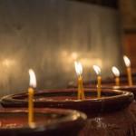свечи в келье